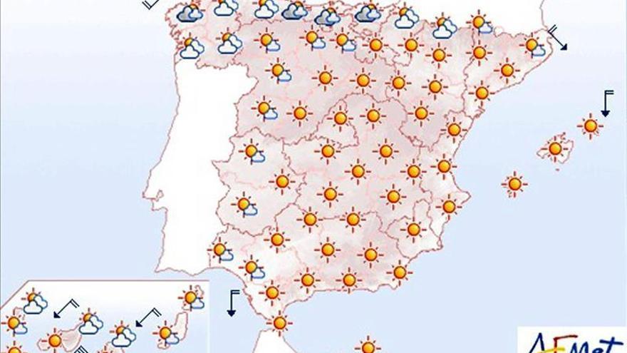 Hoy, ascenso notable de las temperaturas en el oeste de Andalucía