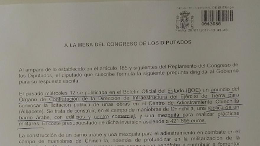 Pregunta registrada por el diputado Ricardo Sixto.