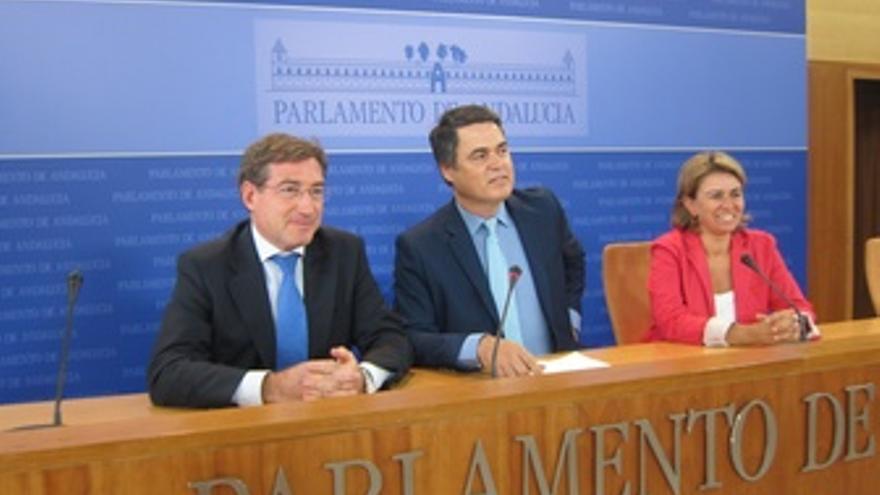 Miembros del PP-A en la comisión de los ERE