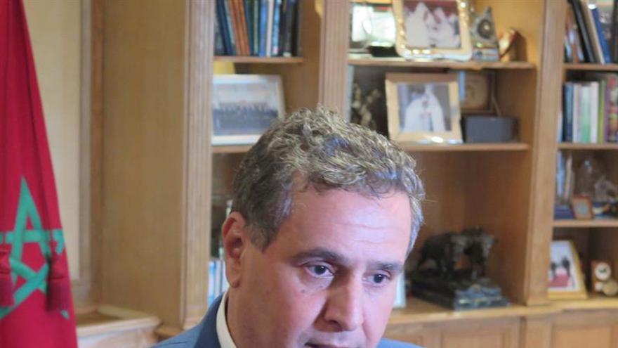 El ministro marroquí de Agricultura y Pesca, Aziz Ajanuch. EFE/Juan Vargas