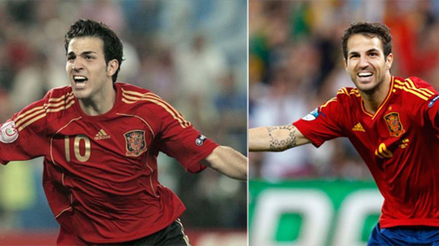 Cuatro años después... La misma imagen de Cesc