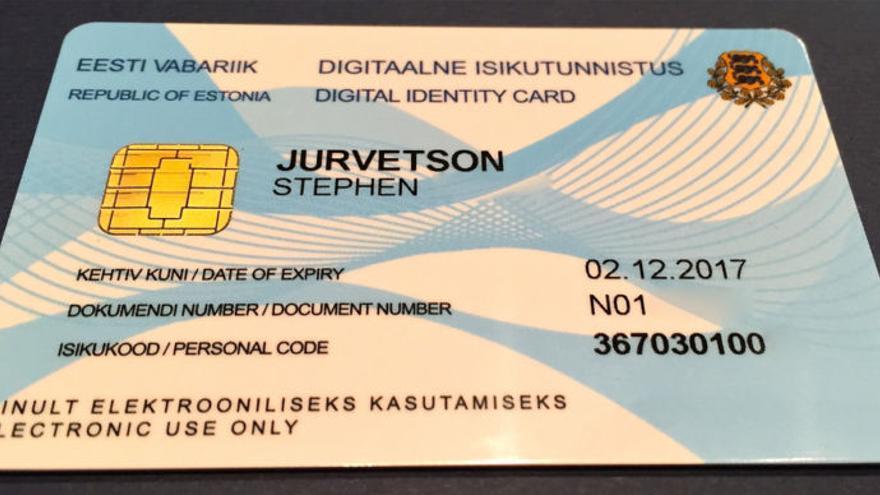 Una tarjeta de identificación estonia