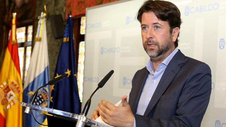 El presidente del Cabildo tinerfeño, Carlos Alonso