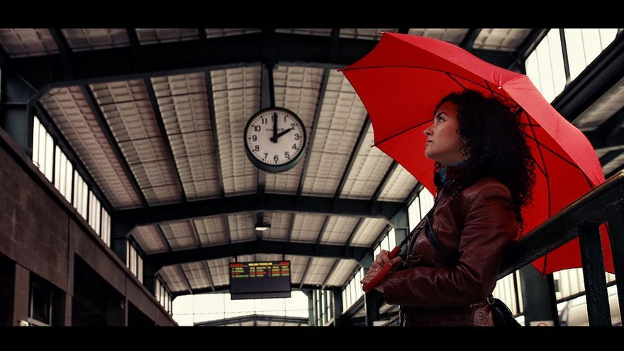 'Waiting for train'