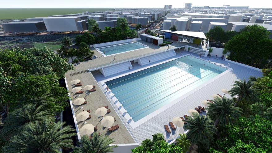 La reforma de la piscina julio navarro dotar de nuevos for Piscina julio navarro