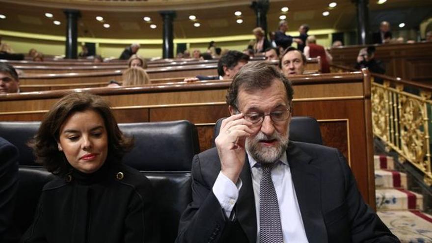 Soraya Saénz de Santamaría y M. Rajoy