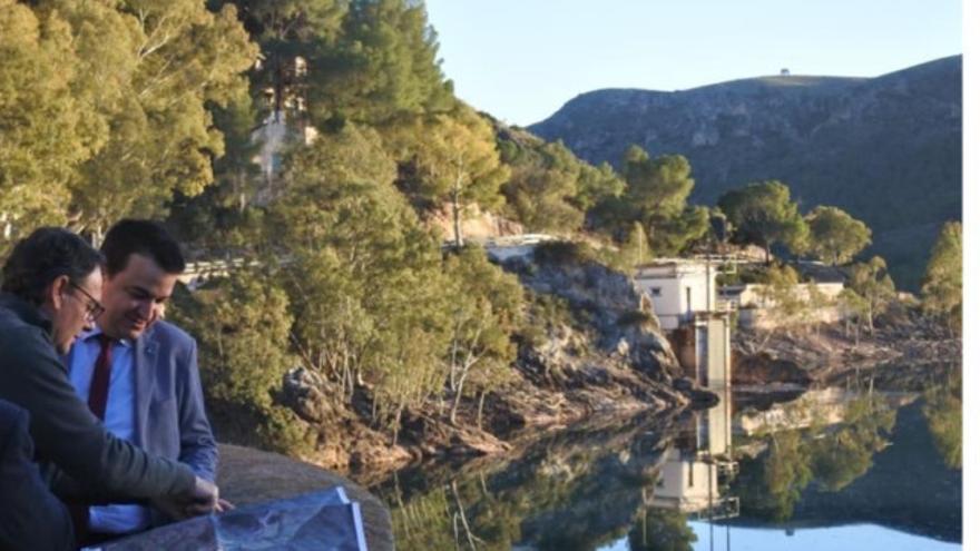 Presa del Talave, en la cuenca del Segura (Albacete)