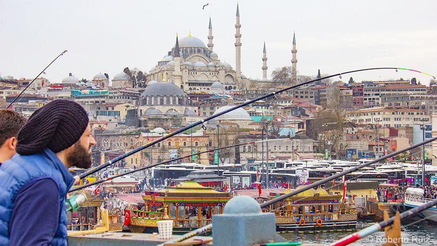 Estambul desde el Puente Gálata