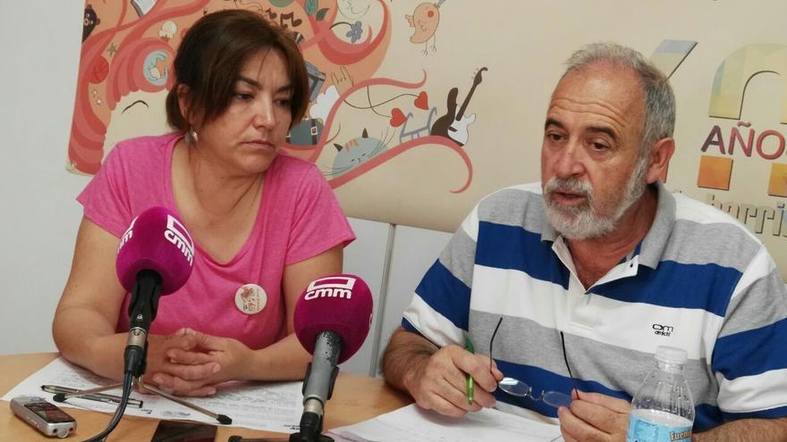 Sonia Méndez y Víctor Villén, de la Asociación de Vecinos 'El Tajo'