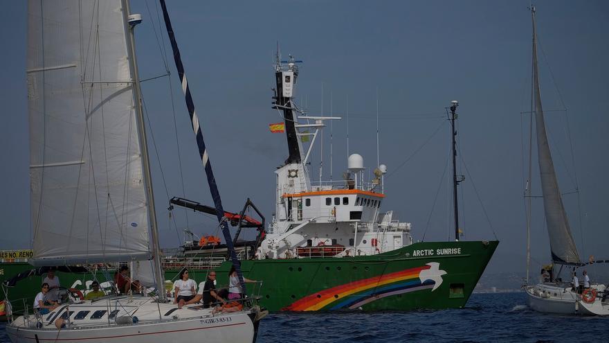 El buque de Greenpeace Arctic Sunrise/ Foto: N. Cenizo