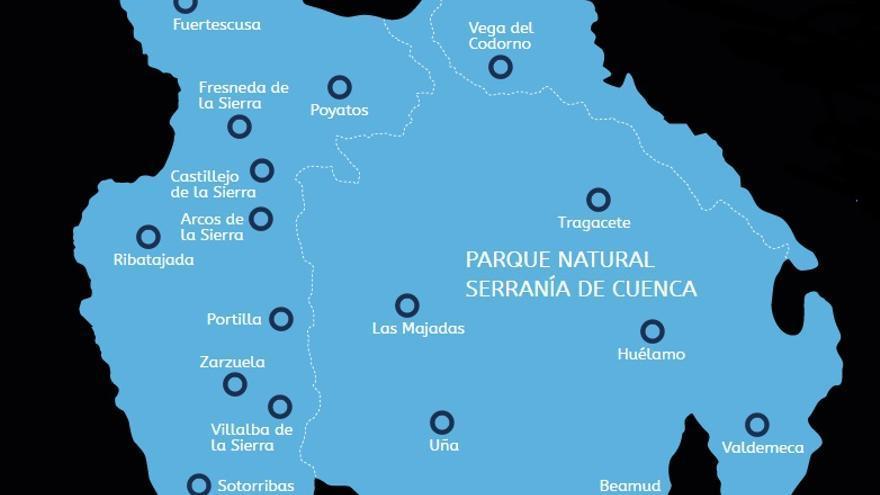 Ámbito del Parque Astronómico Serranía de Cuenca