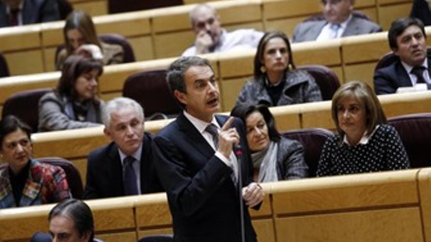 José Luis Rodríguez Zapatero, en el Senado
