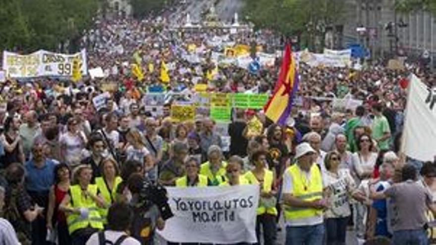Una de las manifestaciones en Madrid. (EUROPA PRESS)