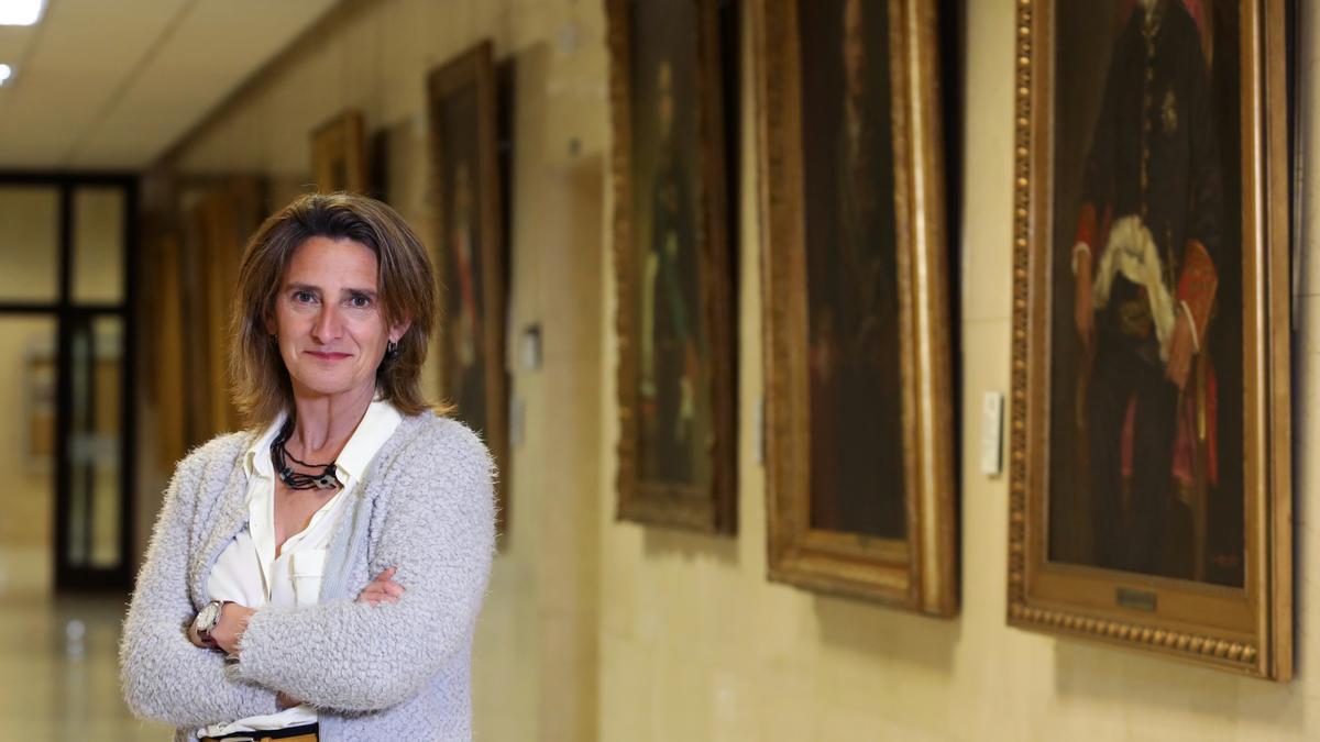 La vicepresidenta cuarta del Gobierno, Teresa Ribera, en el Ministerio e Transición Ecológica /Marta Jara.