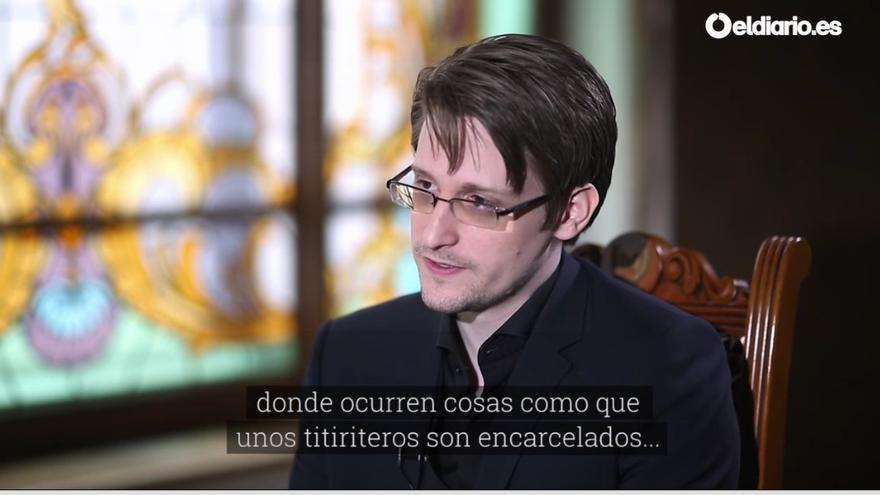Edward Snowden habla con eldiario.es