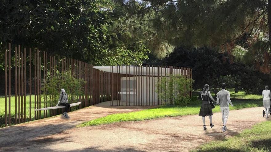 El diseño ganador de los baños que se instalarán en el jardín del Túria