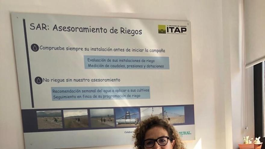 Amelia Montoro, jefa del Servicio de Asesoramiento de Riegos del Instituto Tecnológico Agronómico Provincial de Albacete (ITAP)