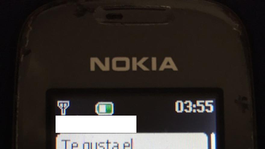 SMS enviado por Manuel Baltar a la denunciante