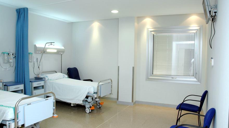 Camas en el Hospital de Talavera de la Reina. Foto de la Junta de Comunidades.