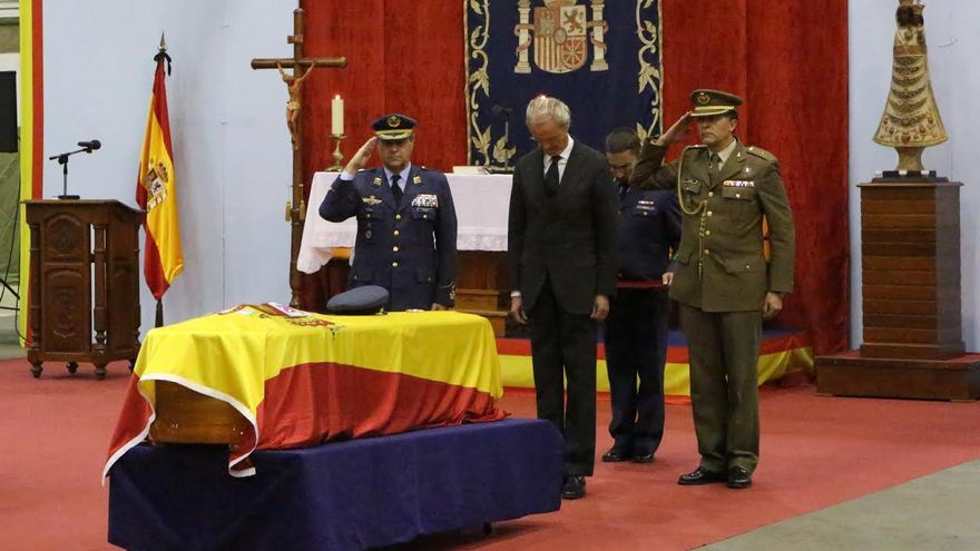 Funeral por los militares del SAR fallecidos en accidente de helicóptero. (ALEJANDRO RAMOS)