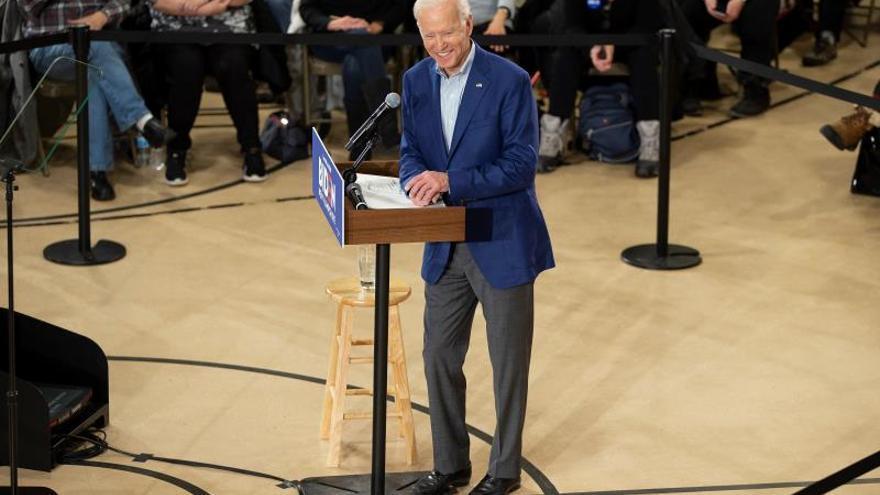 Joe Biden lidera la intención de voto en los caucus de Nevada