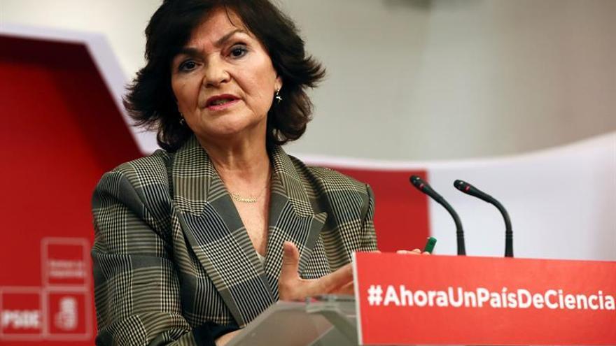 """Carmen Calvo (PSOE): """"Nuestro himno no tiene letra y ya está"""""""