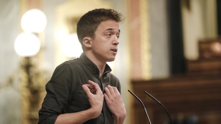 El portavoz de Más País-Equo en el Congreso, Íñigo Errejón, durante su intervención en una sesión plenaria en el Congreso de los Diputados, en Madrid (España), a 29 de septiembre de 2020.
