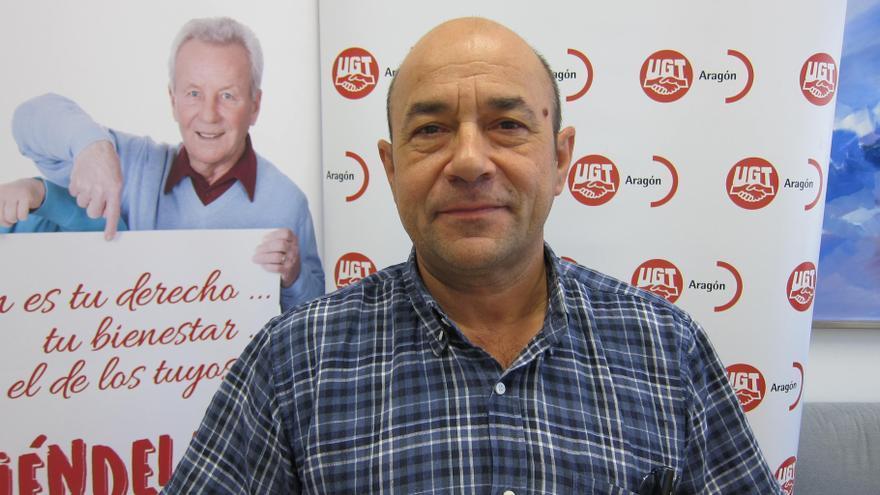 El secretario general de UGT Aragón, Daniel Alastuey