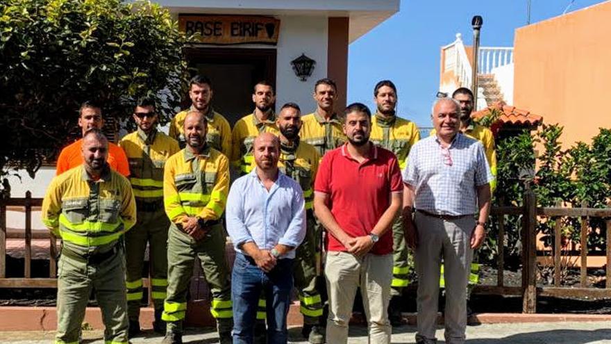 Borja Perdomo con miembros de Eirif.