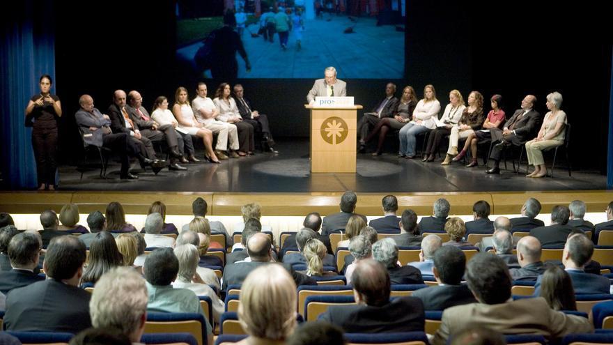 Un momento de la intervención de Jerónimo Saavedra, alcalde de LPGC. (ACN / V3S / J.C.G.)