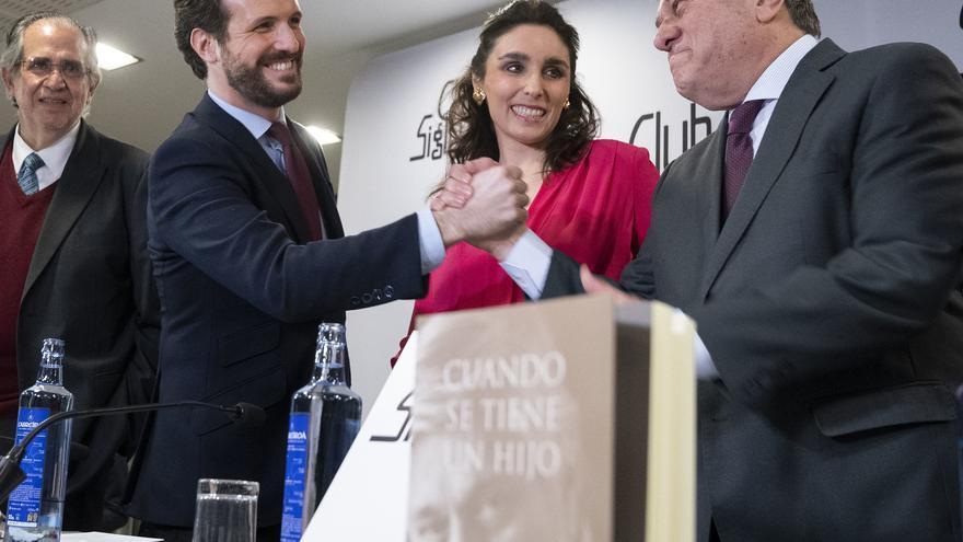 Pablo Casado en la presentación del libro de Leopoldo López