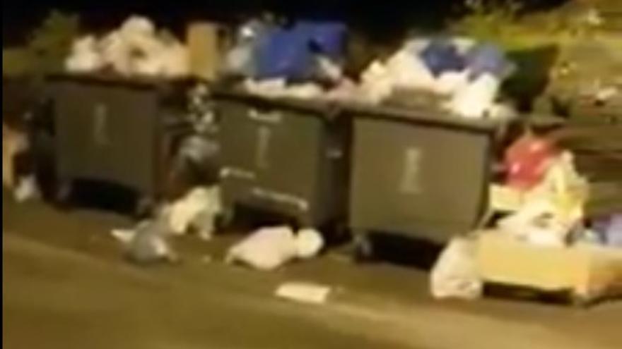 Contenedores de basura en El Hierro