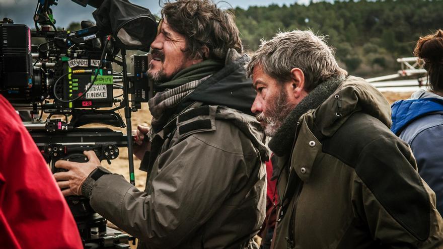 Enrique Urbizu en el rodaje de 'Libertad'