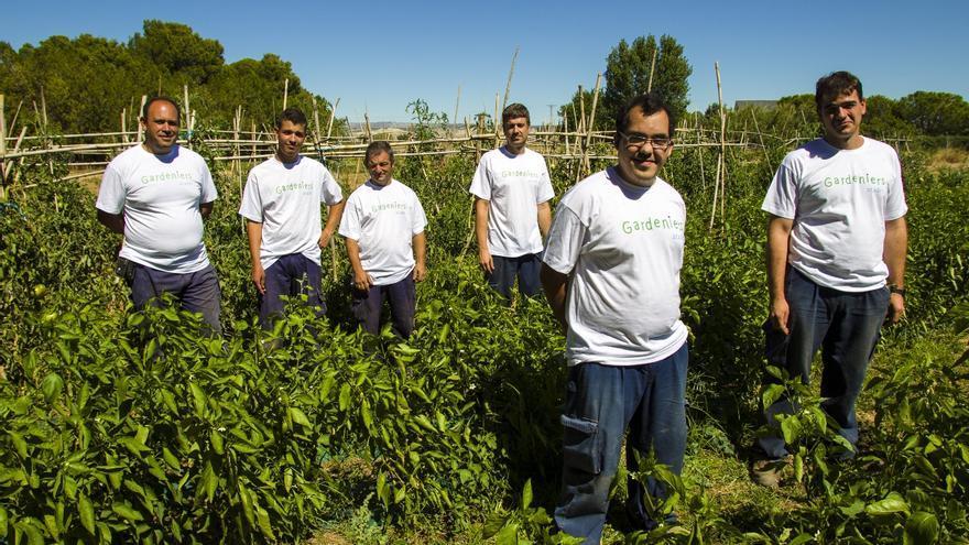 Algunos trabajadores de Gardeniers.