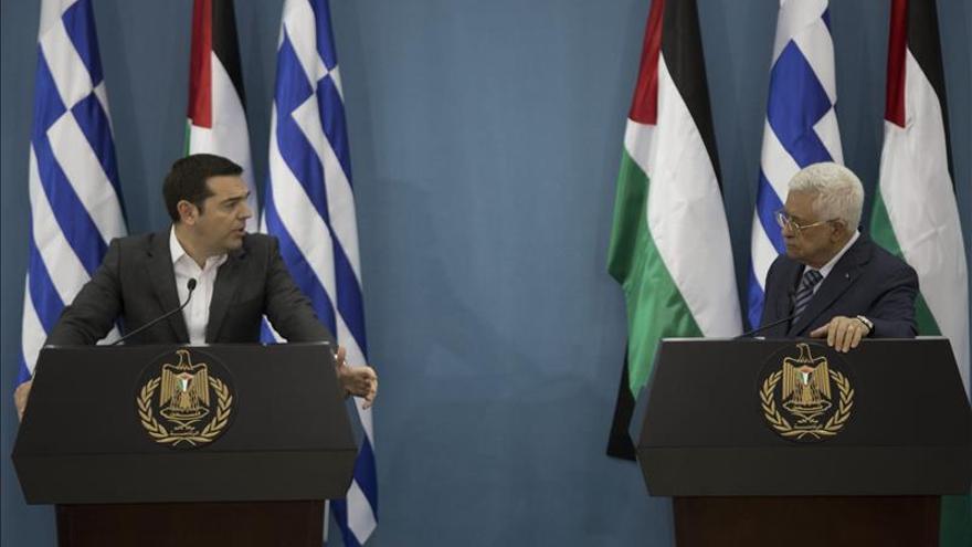 Tsipras expresa preocupación por situación en Palestina y le da todo su apoyo