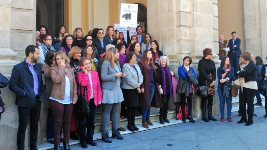 """Ayuntamiento, Cs, Participa, IU y entidades se unen al paro por la igualdad """"real y efectiva"""" de la mujer"""
