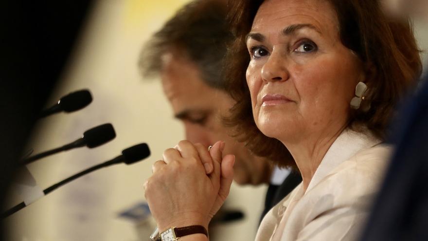 """Calvo asegura que el saludo de Junqueras a Sánchez """"no viene a cuento"""" y recuerda el veto de ERC a Iceta en el Parlament"""