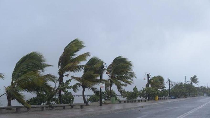 Huracán Irma, a su paso por República Dominicana. (EFE).
