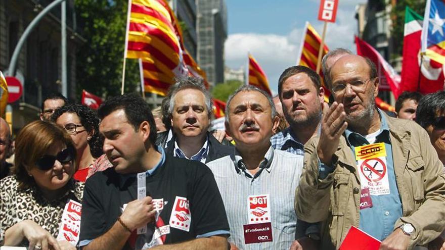 Miles de catalanes exigen en Barcelona el fin de la austeridad y los recortes