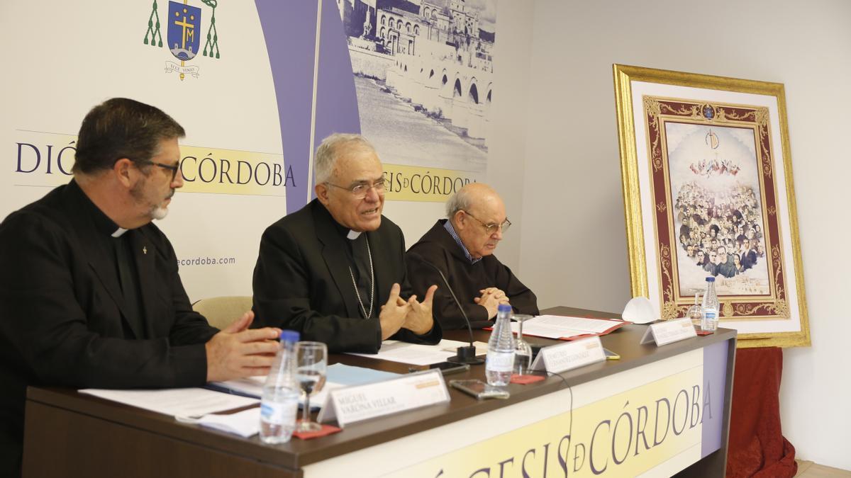 El obispo, en la presentación de los actos