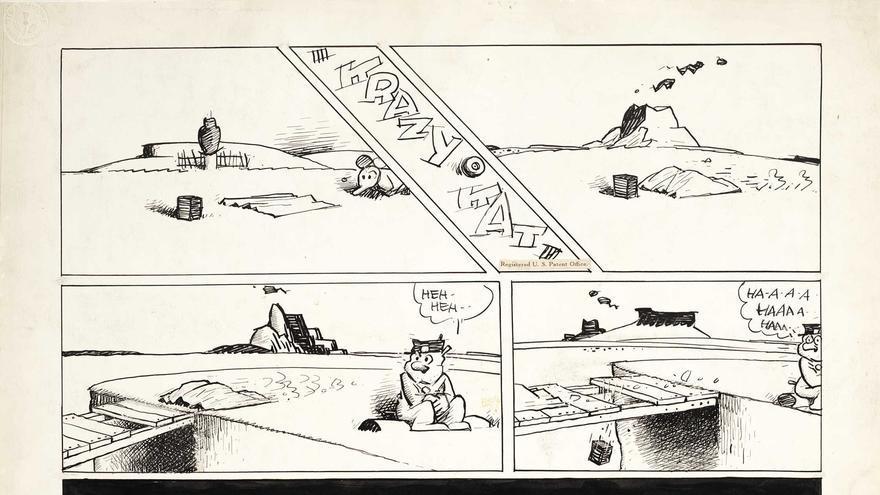 Tira cómica de Krazy Kat del 20 de diciembre de 1942