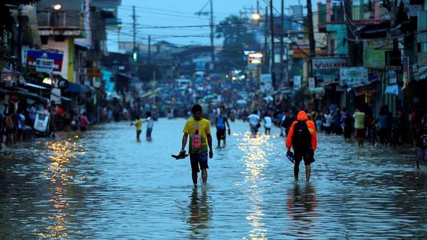 Inundaciones en Filipinas en 2016.