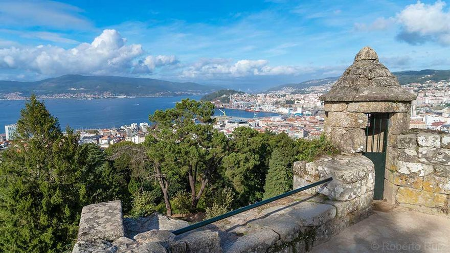 Las vistas de Vigo desde la fortaleza de O Castro