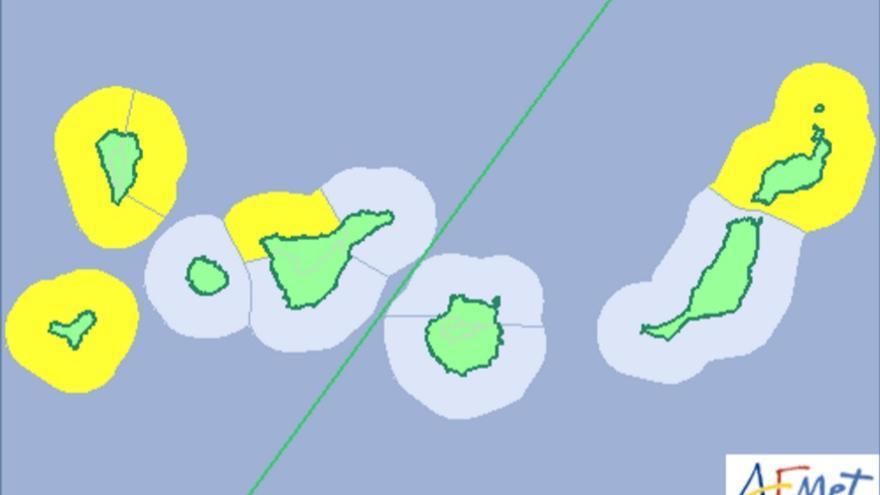 Aviso amarillo en Canarias por fenómenos costeros adversos