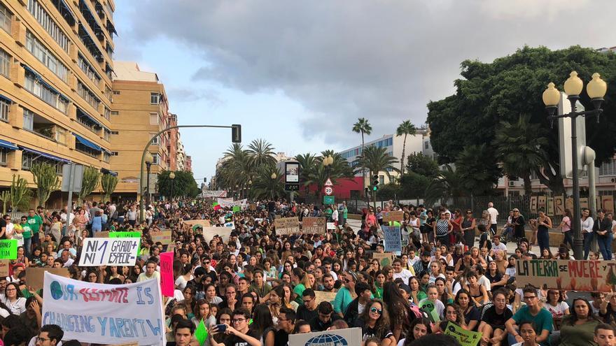 Concentración contra el cambio climático en Las Palmas de Gran Canaria. (GREENPEACE CANARIAS)