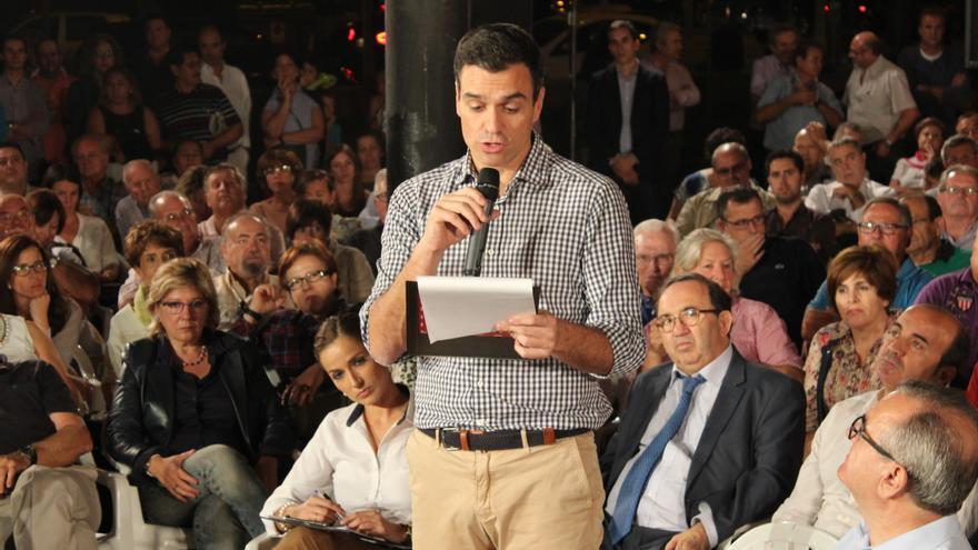 Pedro Sánchez ha reivindicado el historial del PSOE durante el acto celebrado en Murcia / PSS