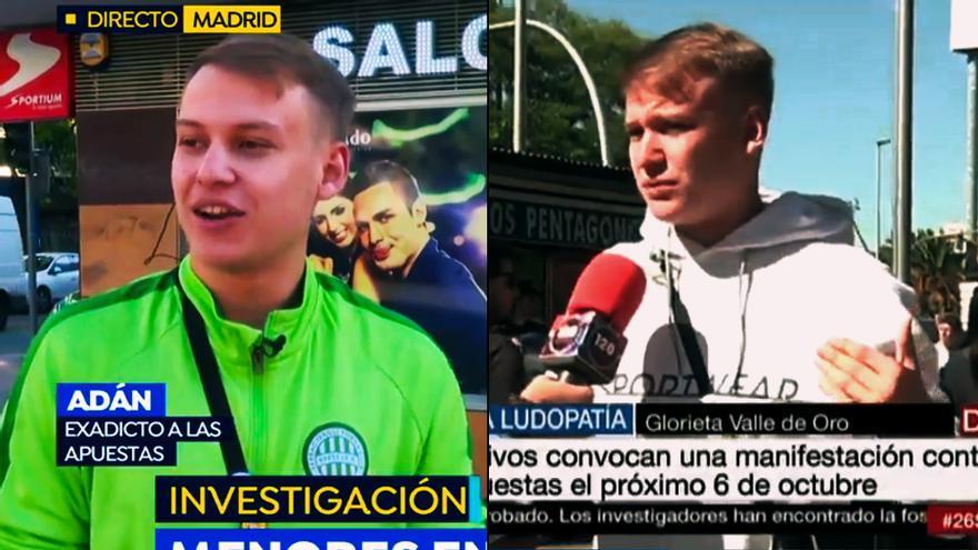 Adán, el joven entrevistado en las TV sobre su adicción al juego