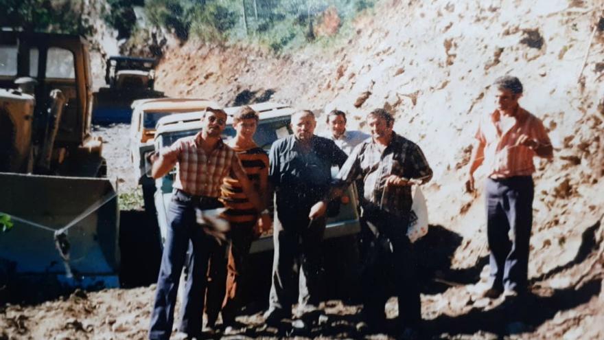 Ejecución de las obras de la carretera de Ancares (León).