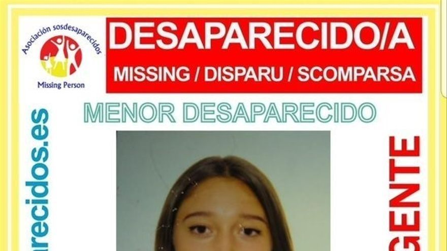 Se busca a Mercedes, una menor de 14 años desaparecida en La Orotava