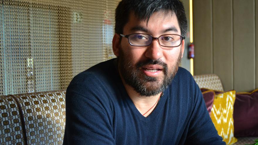 Edy Tábora, durante la entrevista | N.C.